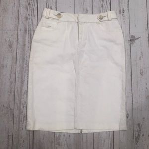 Banana Republic white pencil skirt 4 pockets sz 6